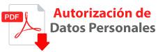 AUTORIZACIÓN TRATAMIENTO DATOS PERSONALES